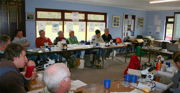 TRiverfly Partnership training day at llandysul Ccricket pavillion, March 09